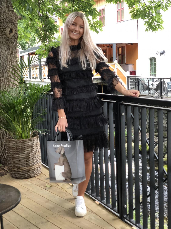 BY MALINA Carmine Mini sort kjole